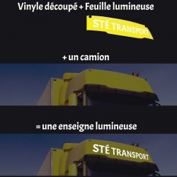 Enseigne Lumineuse Camion 123x20cm universelle